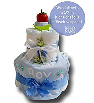 trend mama windeltorte quot boy quot tolles babygeschenk baby. Black Bedroom Furniture Sets. Home Design Ideas