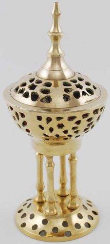 Accesorios de incienso - latón calderas de cadena estilo (ortodoxo griego) - quemador de incienso de alfombras de 20,32 cm de alto
