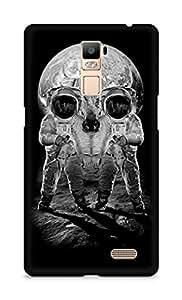Amez designer printed 3d premium high quality back case cover for Oppo R7 Plus (Astronauts Merge Skull Optical Illusion)