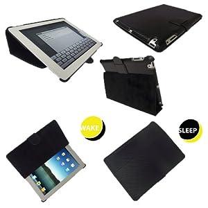Igadgitz Ultrathin Tasche Carbon fibre Carbonfaser Schutzhülle Case Hülle in Schwarz für Apple iPad 2 Generation