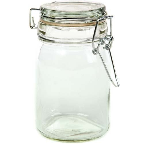 Creative Hobbies Clear Glass Jars With Locking Lids - 4.5