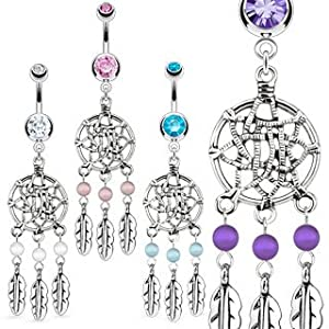 Navel Ring; Comes With Free Gift Box (Pink): Body Piercing Rings