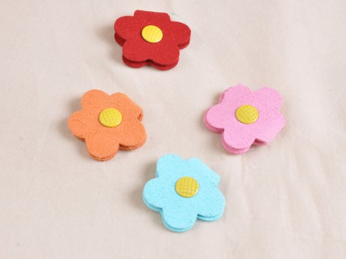 Sweet Candy-Colored Flowers Headphone Winder Wrap Snap Lovely Cloth
