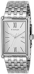 Titan Neo Analog Silver Dial Mens Watch-1731SM01