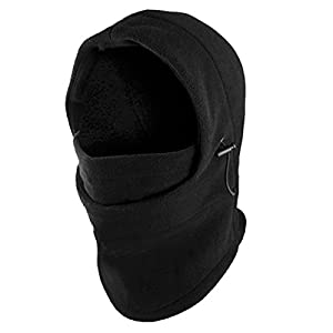 Fleece Windproof Ski Face Mask Balaclavas Hood by Super Z Outlet (Black)