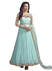Anbazaar Sky Blue Georgette Net Anarkali Salwar Kameez