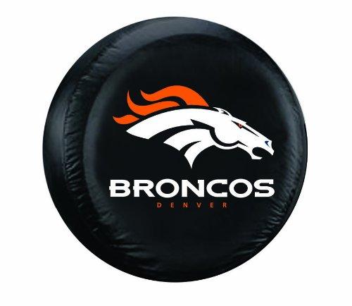 NFL Denver Broncos Tire Cover, Black, Large (Black Tires compare prices)