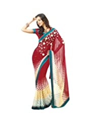 Triveni Fancy Saree With Unstitch Blouse - 4027