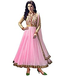 Neets Fashion Light Pink Net Designer Semi stitched Salwar Suit