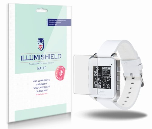 iLLumiShield - MetaWatch Frame (MW3001 / MW3005) Anti-Glare Matte Screen Protector HD Clear Film / Anti-Bubble & Anti-Fingerprint / Premium Invisible Crystal Shield - Free Warranty - [3-Pack] (Metawatch Frame compare prices)
