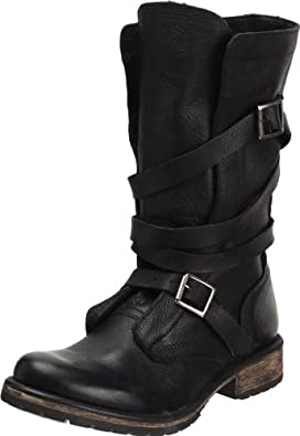 Steve Madden Women's Banddit Boot,Black Leather,7 M US