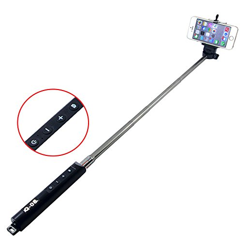 selfie stick tekdealstm self portrait monopod extendable wireless bluetooth selfie stick with. Black Bedroom Furniture Sets. Home Design Ideas