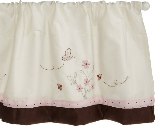 "Carter's Love Bug Valance, Pink/Choc, 60 X 14"" (Discontinued by Manufacturer) - 1"