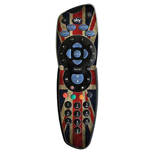 Skin adesiva per telecomando per TV Sky UK Retro Flag