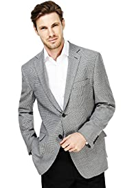 Sartorial Wool Rich 2 Button Checked Jacket