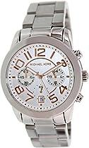 Michael Kors Mercer Chronograph Silver Dial Ladies Watch MK5725