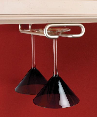 Rev-A-Shelf RS3150.18SN 18 ft. D Single Stemware Rack-Oil Rubbed Bronze