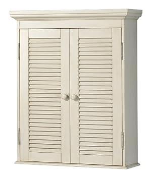 Pegasus CTAW2429 Cottage Wall Cabinet, Premium Antique White