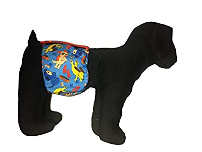 Barkerwear Male Dog Diaper - Dreamy Dog Washable Belly Band Male Wrap for Housebreaking, Male Marking and Incontinence