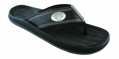 NCAA Texas Longhorns Men's Waffle Concho Flip Flops, Brown, 13 at Amazon.com