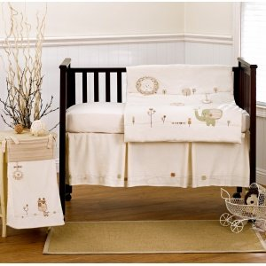 1 X Natures Purest Sleepy Safari Bedding: Sleepy Safari Removable Wall Appliques Ecru
