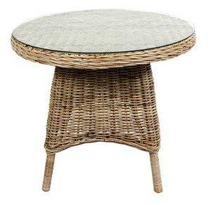 Kubu Garten Tisch Sevilla mit Glasplatte 90cm Durchmesser kaufen