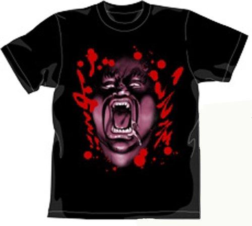 北斗の拳 ハート様Tシャツ ブラック サイズ:L