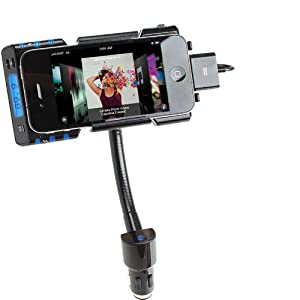 GOgroove FlexSMART i ADVANCED Car Cradle Mount System with Hi-Fi FM Transmitter and Charger for Apple iPhone 4S , 4 , 3GS , 3G / iPod Touch , Nano , Classic by Accessory Power