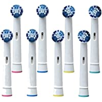 8-Pack Aroccom Replacement Toothbrush Heads for Braun Oral B SB-20A (8)