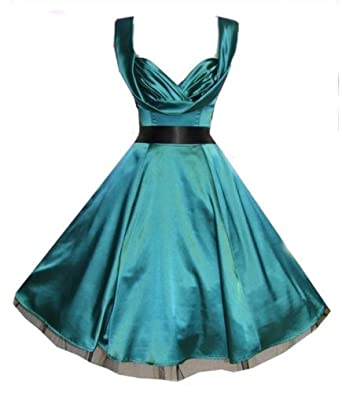 Silky Sweetheart 50s Dress