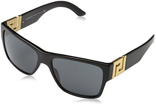 Versace VE4296, Occhiali da Sole Unisex-Adulto, Nero (Black GB1/87), Taglia Unica (Taglia Produttore: One Size)