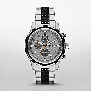 Fossil Men's FS4888 Dean Analog Display Analog Quartz Silver Watch