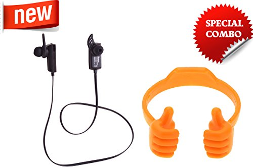 New Year Sale Experiences the personal Theatre-Hangout New Bluetooth Earphone HOE-702-Black-Hangout smart mobile stand-ORANGE