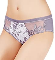 Per Una Comfort Embroidered Floral Bikini Knickers