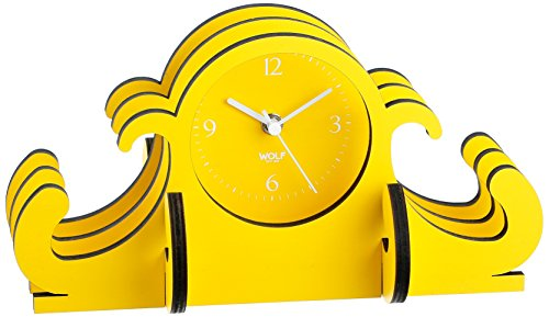 WOLF 333582 Jigsaw Mantel Clock, Yellow