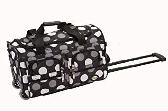 Rockland Luggage Rolling 22 Inch Duffle Bag, New Black Dot, One Size