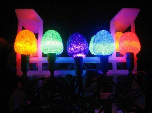 Sugar Coated Led Gumdrop Christmas Light Strand - Set Of 25 Lights