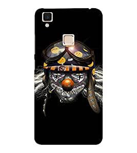 EPICCASE Skully Pilot Mobile Back Case Cover For VIVO V3 (Designer Case)