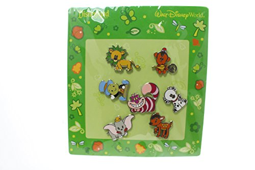Disney Theme Park Characters 7 Piece Pin Set
