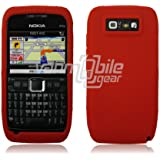 VMG Red Premium Full View Soft Silicone Gel Skin Case Cover for Nokia E71 E71...