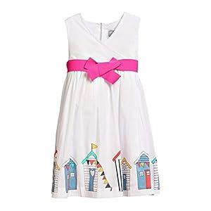 Rockin' Baby Girls White Beach Hut Border Print Minnie Dress 18-24M