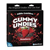 Best Edible Male Gummy Undies - Strawberry (Color: Red, Tamaño: One Size)