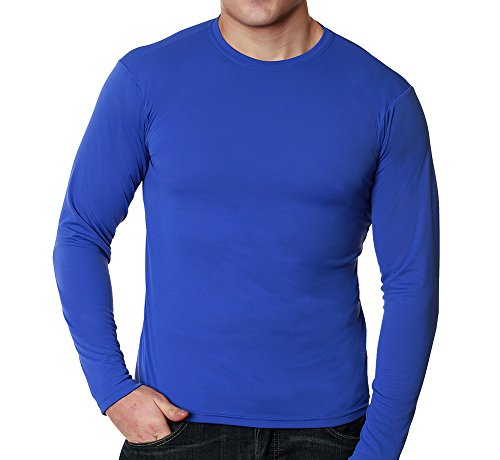 Men's Versa-T Long Sleeved UPF 50+ Performance T-Shirt by Nozone in Blue, Large (Canada Longsleeved Shirt compare prices)