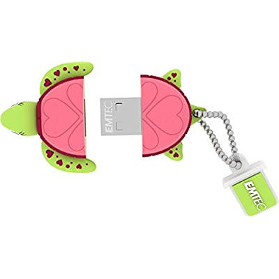 EMTEC Animalitos 8 GB USB 2.0 Flash Drive, Baby Turtle