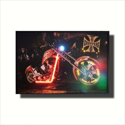 West Coast Choppers Bike Neon Poster Sign