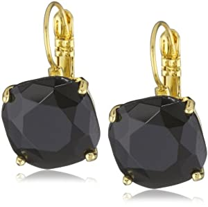 "kate spade new york ""Essentials"" Jet Small Square Lever Backs Earrings"