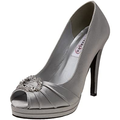 Dyeables Gianna Women's Silver Heel Shoes 4 M