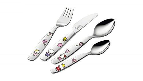 Zwilling 07133-210-0 Coffret de 4 Couverts Hello Kitty pour Enfants
