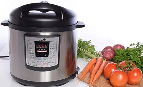 Learn More About Ivation 7-In-1 Programmable Multi-Function Pressure Cooker; Steamer, Slow Cooker, Rice Cooker; High Grade Stainless Steel 6.3 Q Iner Pot; 11 Preset Cooking Styles; 1000W Power (Stainless Steel)