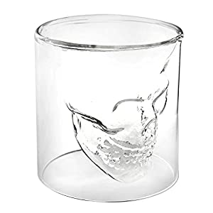 Crystal Skull Pirate Shot Glass Drink Cocktail Beer Cup (74ml)